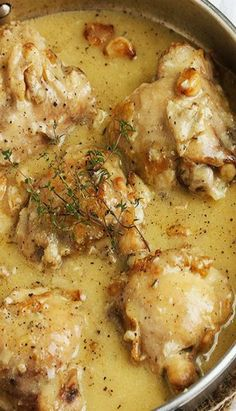 Rustic Chicken with Garlic Gravy – The Best Chicken Recipes is Here Turkey Recipes, Meat Recipes, Cooking Recipes, Healthy Recipes, Recipies, Turkey Dishes, Lunch Recipes, French Food Recipes, Cooks Country Recipes