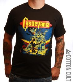 CASTLEVANIA - High Quality Tshirt Nintendo NES Simon Belmont SNES Dracula Retro