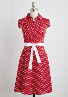 Hepcat Soda Fountain A-Line Dress in Cherry, #ModCloth