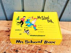 Vintage School Box - My School Box by theindustrycottage on Etsy