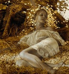 Brad Kunkle, oil and gold leaf on linen - Mixed media traditional painting Gold Leaf Art, Gold Art, Figure Painting, Painting & Drawing, Pastel Drawing, Brad Kunkle, Painted Leaves, Portrait Art, Portraits