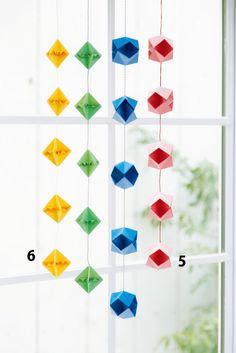 折り紙で作る 正方基本形の和風つるし飾りの作り方(おりがみ) | ぬくもり