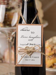 Rustic Wedding Wine Label with birch bark heart tag Wedding Wine Labels, Wedding Wine Bottles, Wedding Tags, Rustic Wedding, Wedding Ideas, 40th Birthday Parties, Birthday Party Decorations, Glow Stick Wedding, Bar Drinks