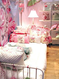 this is from a Shabby Chic home show...great inspiration for a little girl's room