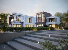 American Inspired House Design Sunset Scene