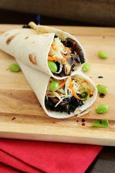 Asian Fusion Veggie Tacos with Crunchy Slaw {Vegan, Gluten-Free}