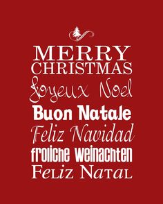 "Merry Christmas ""Around the World"" - English, French, Italian, Spanish, Portuguese and German!"