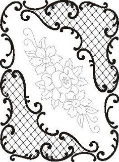 Pergamano šablony - free pattern - Kateřina Horáková - Álbumes web de Picasa (Would be a pretty cookie design too) Lace Painting, China Painting, Embroidery Patterns, Hand Embroidery, Parchment Cards, Free Motion Quilting, Colouring Pages, Craft Patterns, Quilting Designs
