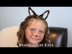 Braided Cat Ears | Halloween Hairstyles | Cute Girls Hairstyles - YouTube