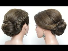 Wedding Updo. Bridal Hairstyle For Long Hair Tutorial Step by Step - YouTube