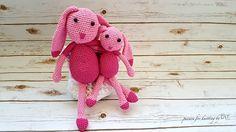 Crochet Bunny, Crochet Toys, Childhood, Facebook, Happy, Pink, Handmade, Belle, Infancy