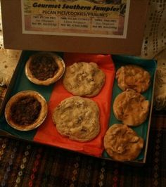 Gourmet Southern SamplerGift Box With Two Pecan Pies  Two Giant Pecan Cookies  Three Pecan Pralines >>> For more information, visit image link.