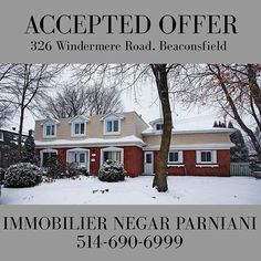 ACCEPTED OFFER | In less than a week!! 🔥🔥 Call me today to find your dream home 514-690-6999! . . . . . . #immobilier #negarparniani #sutton #pictureoftheday #acceptedoffer #design #realtor #lifestyle #entrepreneur #montrealrealestate #beaconsfield #westisland #snowy #exteriordesign #realtorlife #lessthanaweek #market #onfire #realestate #localrealtors - posted by Negar Parniani https://www.instagram.com/negar_parniani - See more Real Estate photos from Local Realtors at…