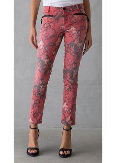 Røde Printede Jeans C70113 Riva Ladies Pants L28 - diana red