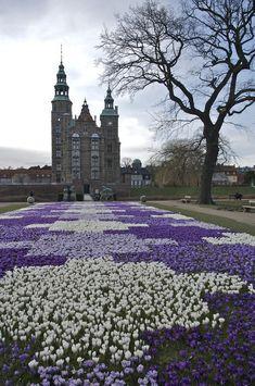 Rosenborg Castle, Denmark, look at these flowers...how magical