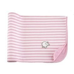 Petit Pim Double Layered Baby Receiving Blanket in Pink - One Size . $36.80. Picot stitching. Embroidered plush Mini Pim. Reversible and finished with pink rib. Solid white plush on the underside. Machine wash at 30 degrees. Pink and white stripes with embroidered plush Mini Pim on one side and solid white plush on the underside. Reversible, finished with pink rib and picot stitching. Machine wash at 30 degrees, 100% Peruvian Pima cotton.