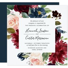 Shop Radiant Bloom Rehearsal Dinner Invitation created by RedwoodAndVine. Jewish Wedding Invitations, Burgundy Wedding Invitations, Botanical Wedding Invitations, Rehearsal Dinner Invitations, Wedding Rehearsal, Watercolor Wedding Invitations, Rehearsal Dinners, Bridal Shower Invitations, Wedding Ceremony