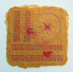 Mixed Media Embroidered Work on Handmade Paper by BooDilly's