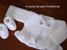 Aprendiz de Tricoteira: casaquinho e sapatinho - COM RECEITA