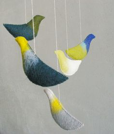 Baby crib mobile - nursery mobile - Birds mobile - GREEN DREAMS - baby gift - pure eco - ready for shipping. $89.00, via Etsy.