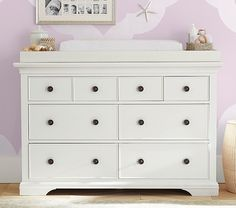 Larkin Extra Wide Dresser & Topper Set | Pottery Barn Kids