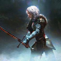 Ideas Illustration Art Fantasy Magic Artists For 2019 Fantasy Warrior, Fantasy Rpg, Medieval Fantasy, Fantasy Girl, Fantasy Artwork, Woman Warrior, Warrior Concept Art, Fantasy Art Women, Star Wars Concept Art