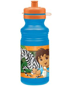 Refresh your thirsty adventurers with a Diego Drink Bottle! This BPA-free plastic blue water bottle features a colorful image of Diego running around the jungle with his animal friends. Last Minute Christmas Gifts, Last Minute Gifts, Dora Diego, Free Games, Boy Birthday, Drink Bottles, Stocking Stuffers, Party Supplies, Lunch Box