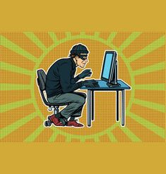 Hacker sitting at the computer vector Free Vector Images, Vector Free, Desenho Pop Art, Computer Vector, Brunette Woman, Royalty, Royals