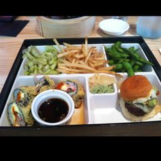 Bento box from the cowfish in Charlotte, nc