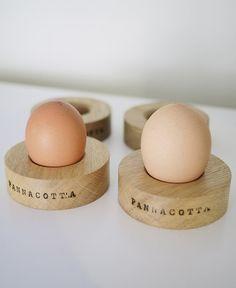 Oak Wooden Egg Cup / Napkin Ring