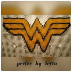 Wonder Woman perler beads by perler_by_lotta
