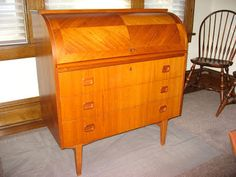 Red Telly: Mid-Century Swedish Teak Roll-top Desk...aka Blix