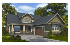 craftsman style house plan 3 beds 250 baths 2507 sqft plan 48 267 - L Shaped Craftsman Home Plans