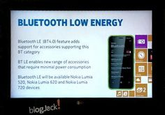 Nokia Amber updating Bluetooth 4.0 support, the Lumia 720, 620 and 520 devices   The upcoming Nokia software update will be available in Amber's latest Lumia WP8 devices and Bluetooth 4.0 support will be included in the Lumia 720, 620 and 520 smartphones.