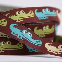 geweven sierband krokodillen bruin op Etsy, 1,52€