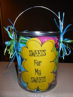 candy bar cute sayings bucket candy gifts
