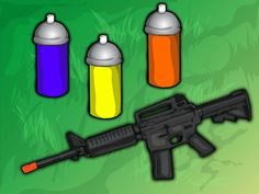 How to Paint Your Airsoft Gun: 13 Steps (with Pictures) - wikiHow Airsoft Gear, Tactical Gear, Pink Guns, Air Rifle, Paintball, Self Defense, Warfare, Nerf, Firearms