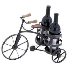 Borracho 1 Bottle Tabletop Wine Bottle and Glass Rack Wine Glass Rack, Bottle Wall, Wine Bottle Holders, Wine Bottles, Wine Racks, Wine Decanter, Tricycle, Wine Carrier, Bottle Carrier