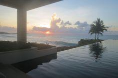 Serene sunset views poolside at Viceroy Anguilla.