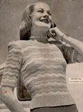 Nine free vintage knitting patterns for women's tops