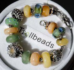 trollbeads ambers and greens