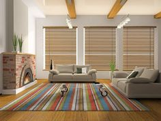 Contemporary Window blinds for small living room with fireplace