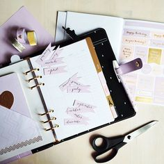 """""""Working on my #birthday, #anniversary & #adress section in my lovely #lilac #kikkik planner..."""""""
