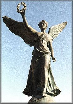 In Greek mythology, Nike was a goddess who personified victory, also known as the Winged Goddess of Victory. The Roman equivalent was Victoria.