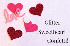 Confetti, heart, lov