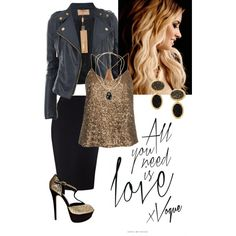 Glitzy date night outfit