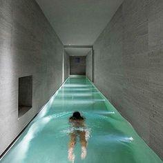 Insane Indoor Pool! Montalcino House by Gerda Vossaert Architects | David Groppi & Daniele Sprega located in Tuscany Italy | David Groppi by luxury_listings