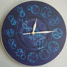 Dr Who clock.  I want to make one of these and have a Tardis in the middle that turns with one of the hands.  :)