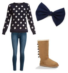 """""""Perfect Polka-Dot"""" by jzdrok on Polyvore featuring Rumour London and UGG Australia"""