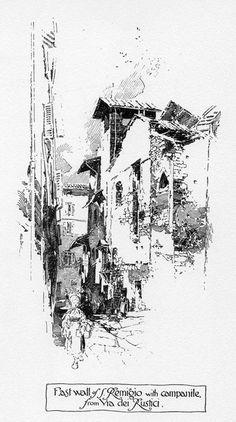 """The Thrifters' Compendium: Herbert Railton-- """"Pen Drawings of Florence"""""""